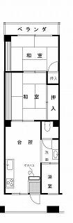 各階2号室